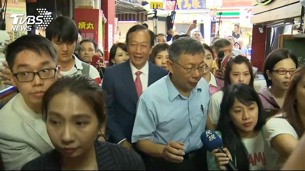 圖/TVBS 郭柯再度合體  一起到新竹城隍廟上香
