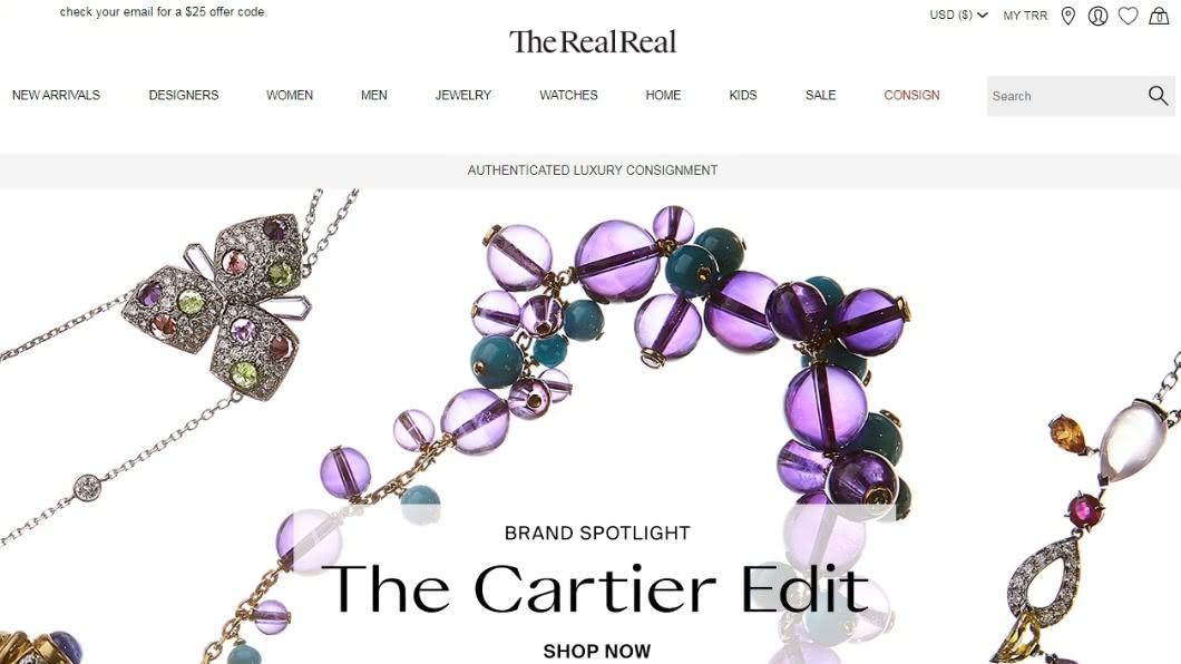 圖/翻攝自 The RealReal官網 別了快時尚!美國二手衣物規模 逾2百億美金