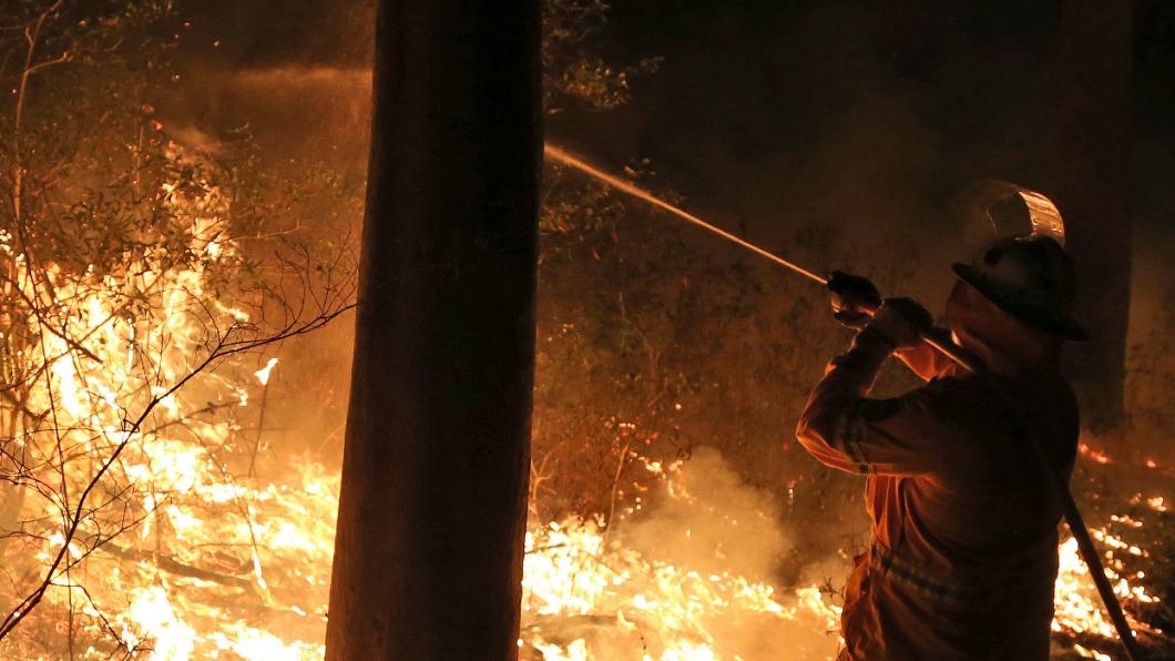 示意圖/達志影像美聯社 澳洲野火狂燒百處「陽光海岸」急撤住戶