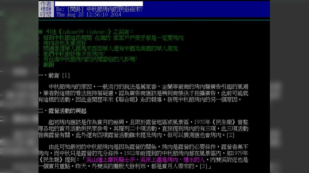 神人鄉民整理資料在PTT發文。圖/翻攝自PTT