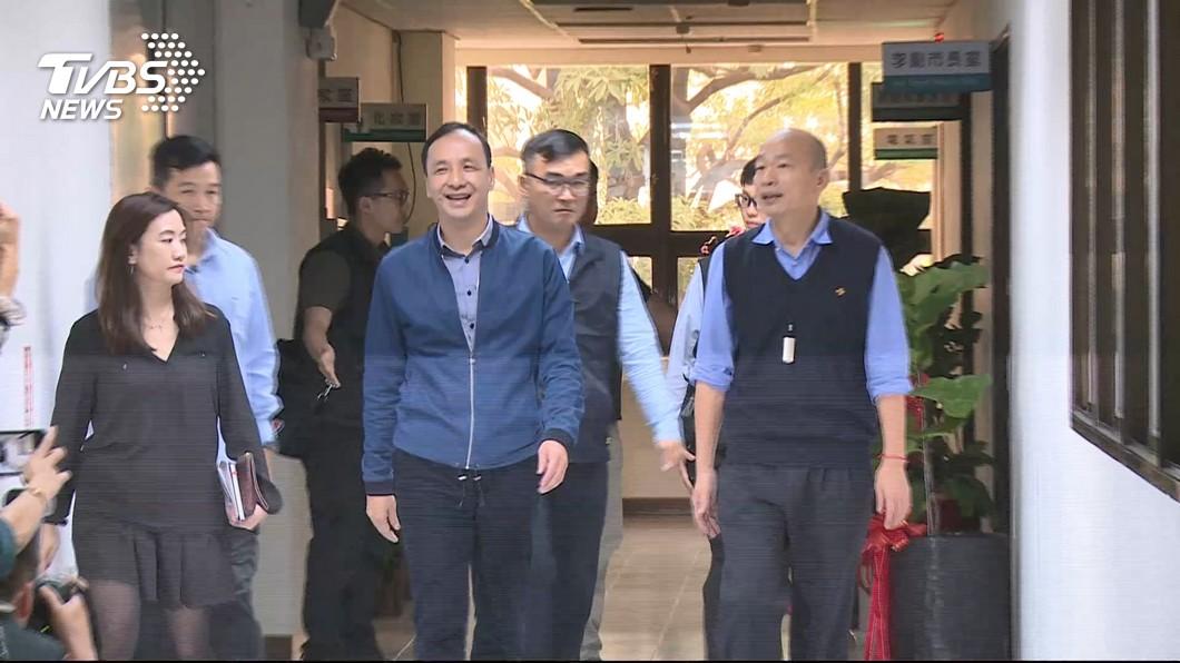 圖/TVBS資料畫面 與韓國瑜同台助選 朱立倫:團結才能勝選