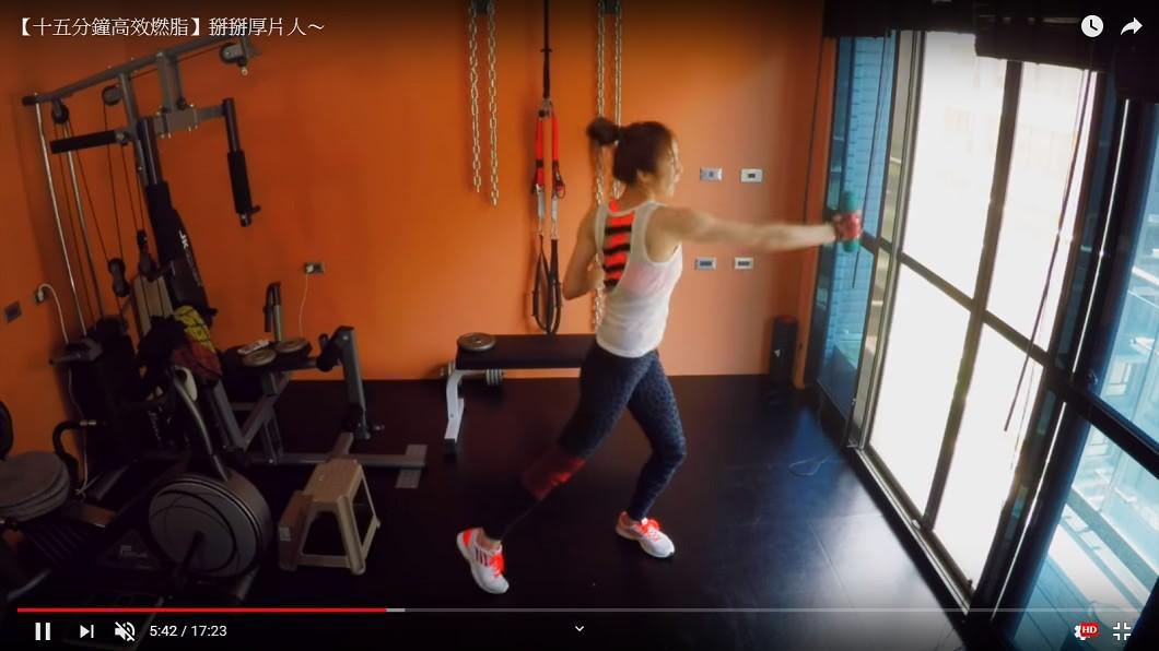 蔡淑臻原本熱愛運動,還拍影片分享運動方式及心得。圖/翻攝Oh my day YouTube