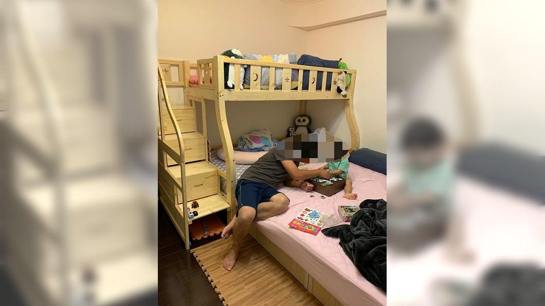 子母床完工照片。圖/翻攝淘寶。好貨分享。團購一起買。臉書