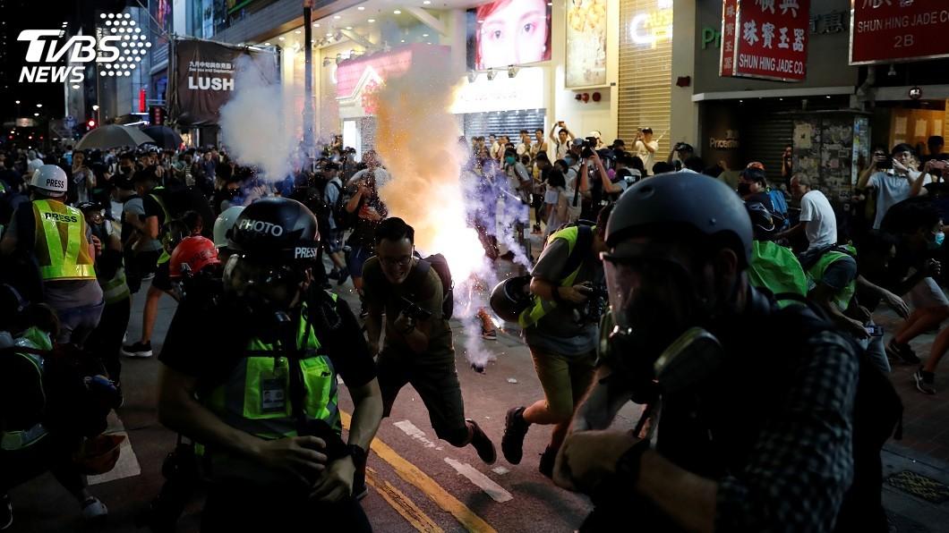 圖/達志影像路透社 反送中遭強力清場 香港夜晚零星衝突多