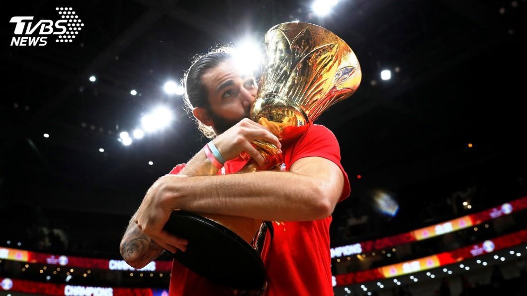 圖/達志影像路透社 世界盃男籃賽西班牙奪冠 盧比歐獲選MVP