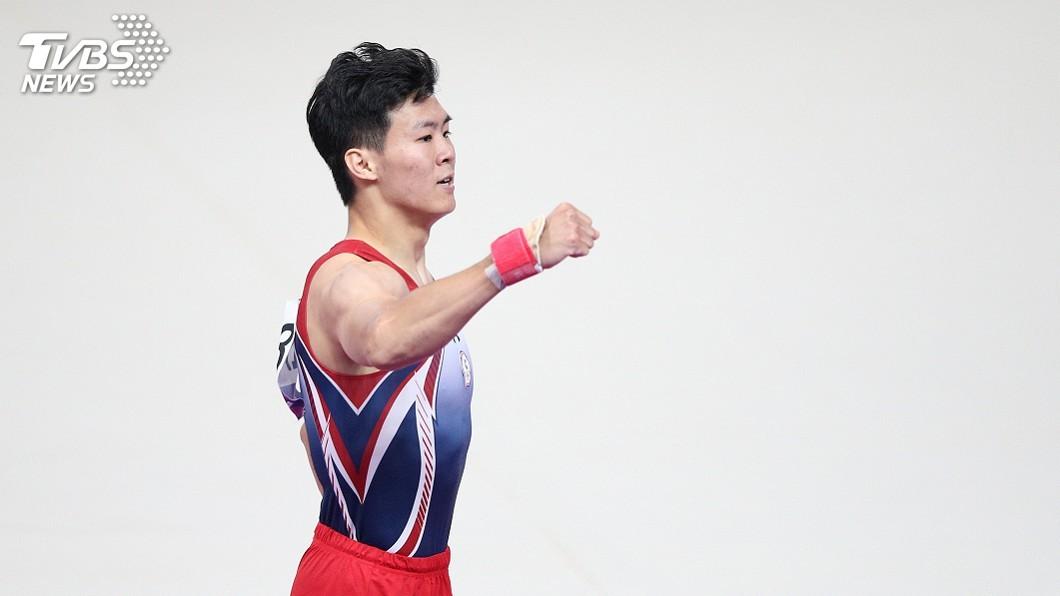 圖/中央社資料畫面 巴黎體操世界挑戰盃 唐嘉鴻單槓鍍銅