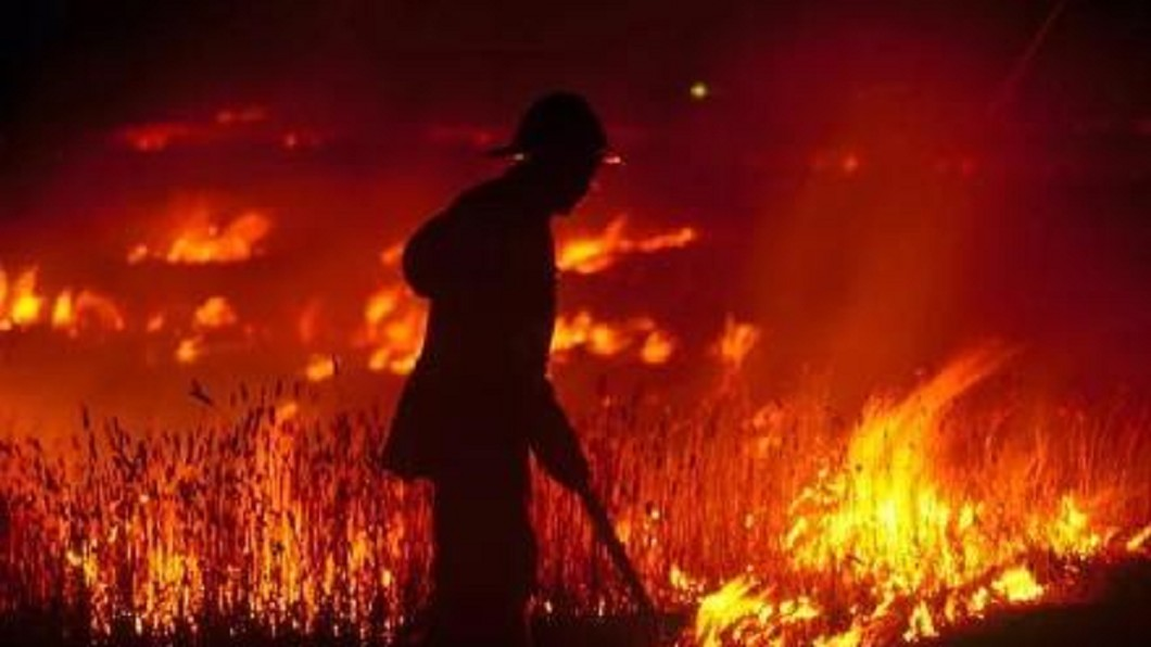 圖/翻攝自 逍遥岁月166 微博 澳洲百場大火燒不停! 員警冒險衝火海救人