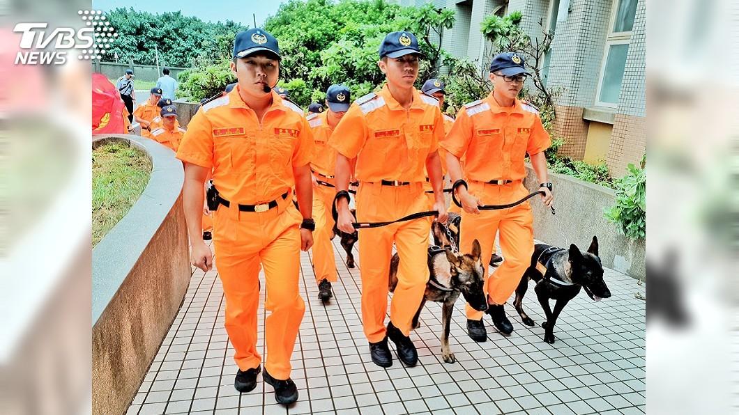 圖/中央社 海巡署成立偵搜犬區隊 防範疫情打擊毒品