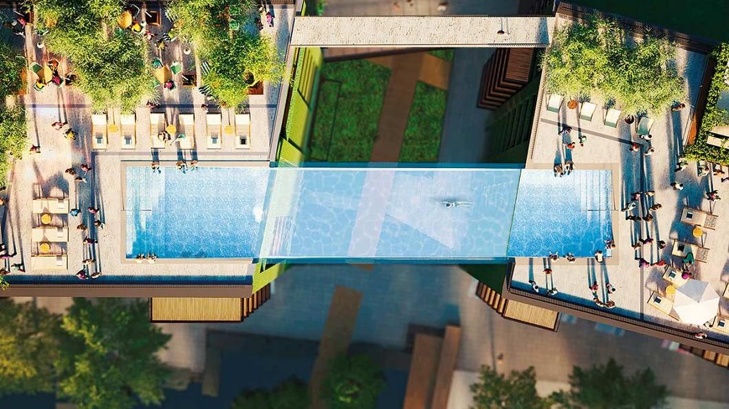 圖/翻攝Embassy Gardens網站 有錢就是任性! 全球首見「空中泳池」超浮誇