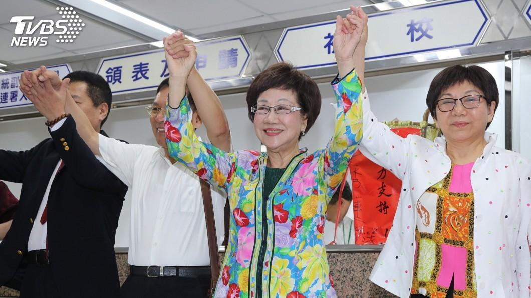 圖/中央社 蔡陣營:感念對民主貢獻 尊重呂秀蓮決定