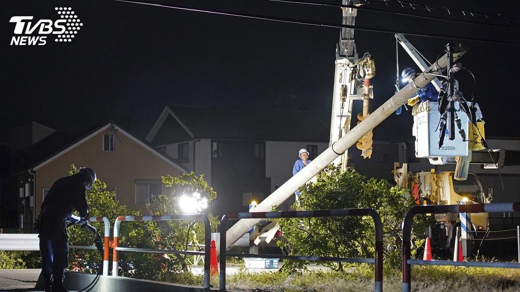 圖/達志影像美聯社 中颱法西重創千葉縣 仍有逾5萬戶停電