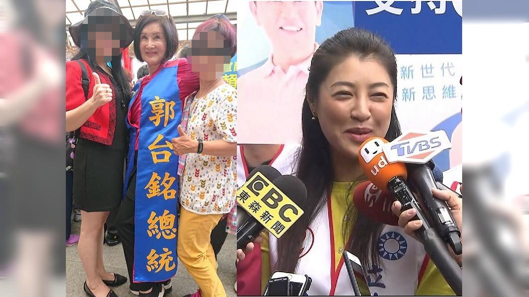 恬娃(左圖中)被爆將赴南投選立委,挑戰高雄市長韓國瑜陣營戰將許淑華(右圖)。圖/翻攝自范月娟臉書、TVBS資料照