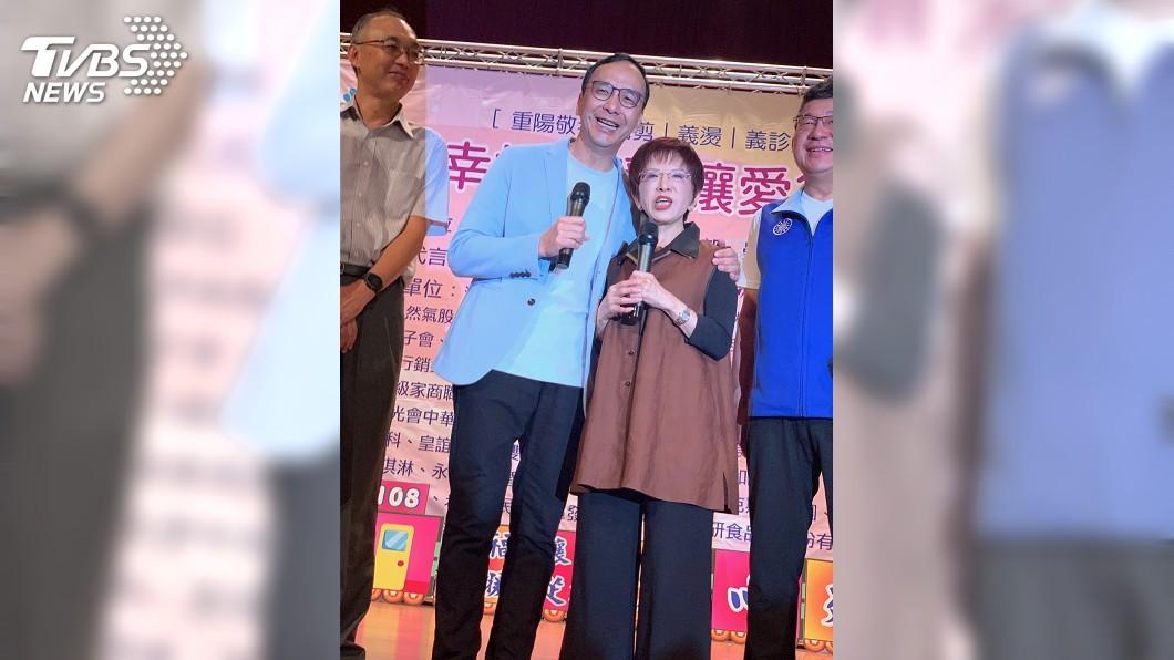 圖/中央社 同台力挺洪秀柱 朱立倫籲:國民黨一定要團結