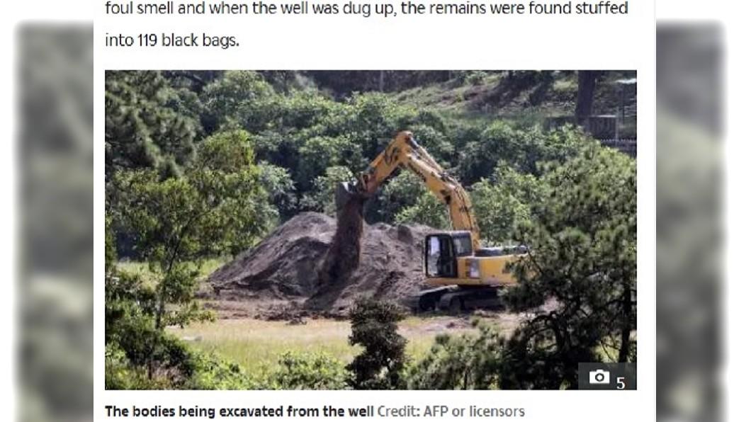 圖/翻攝自The Sun 墨西哥又發現亂葬崗 上百塑膠袋裝有29具遺體