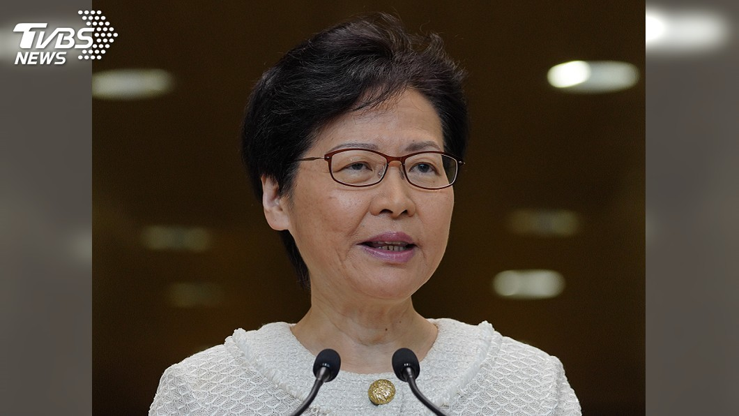 圖/達志影像美聯社 會見區議員 林鄭月娥:2年任期繼續走下去