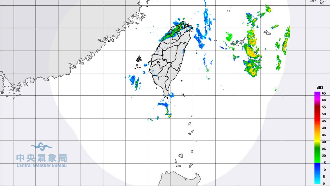 雷達合成回波圖。圖/中央氣象局