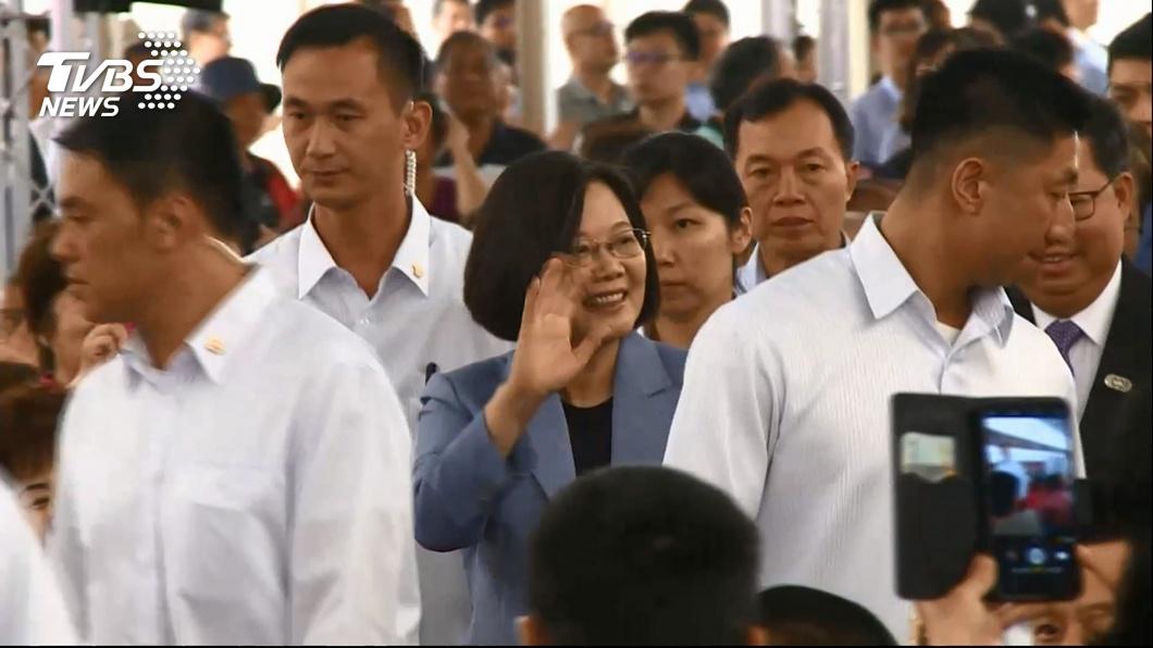 圖/TVBS 蔡民調上升韓下降 藍議員:韓後期看漲