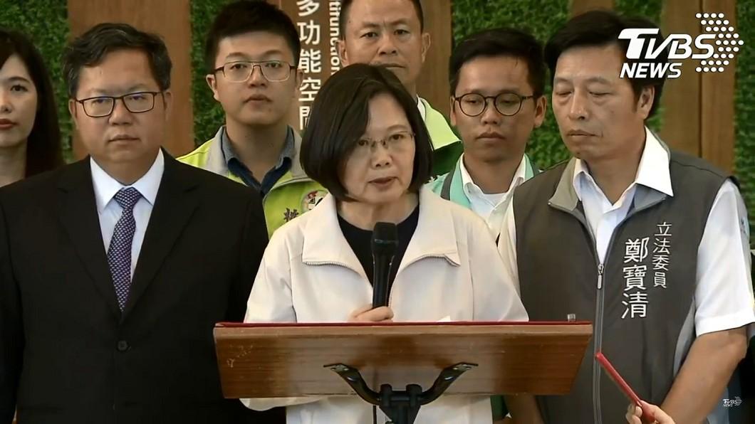 蔡英文親上火線回應。圖/TVBS 吉里巴斯與台灣斷交!蔡英文:一國兩制不可能