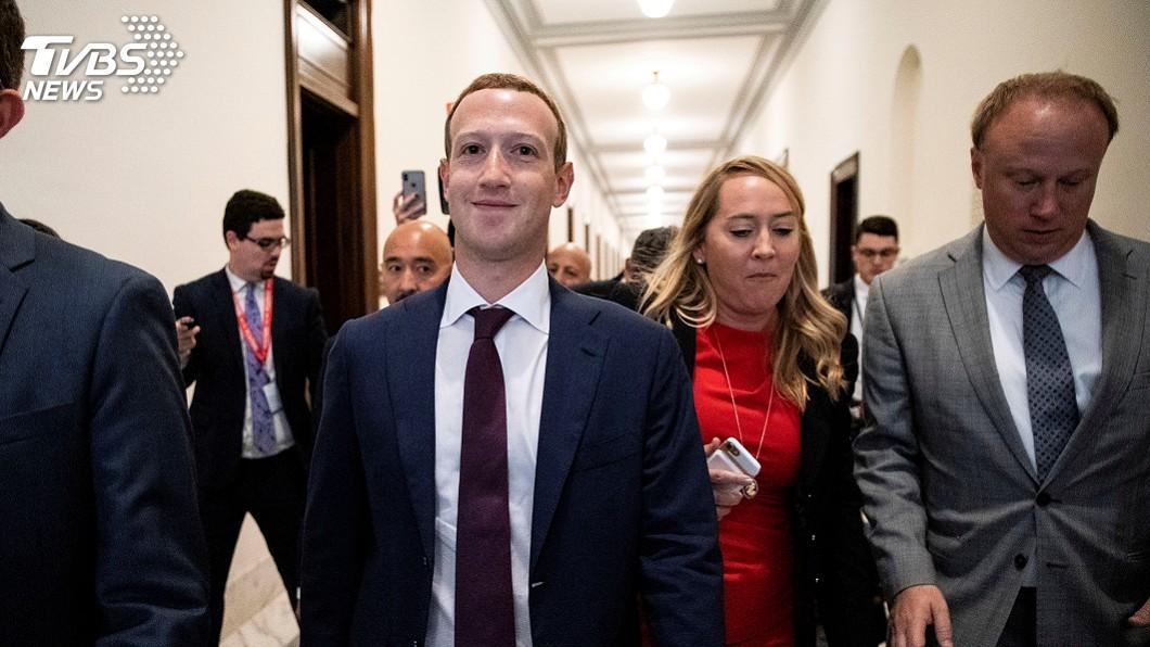 圖/達志影像路透社 祖克柏赴華府會川普與美議員 反對臉書分拆