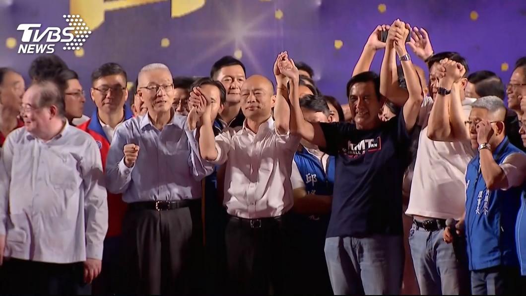前總統馬英九(左四)。圖/TVBS資料畫面 心結還在?挺韓反被噓 傳馬仍會輔選但「不站台」