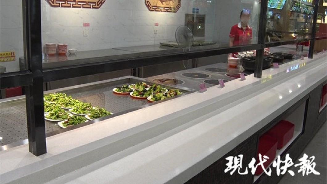 這間餐廳類似食堂。圖/翻攝自現代快報