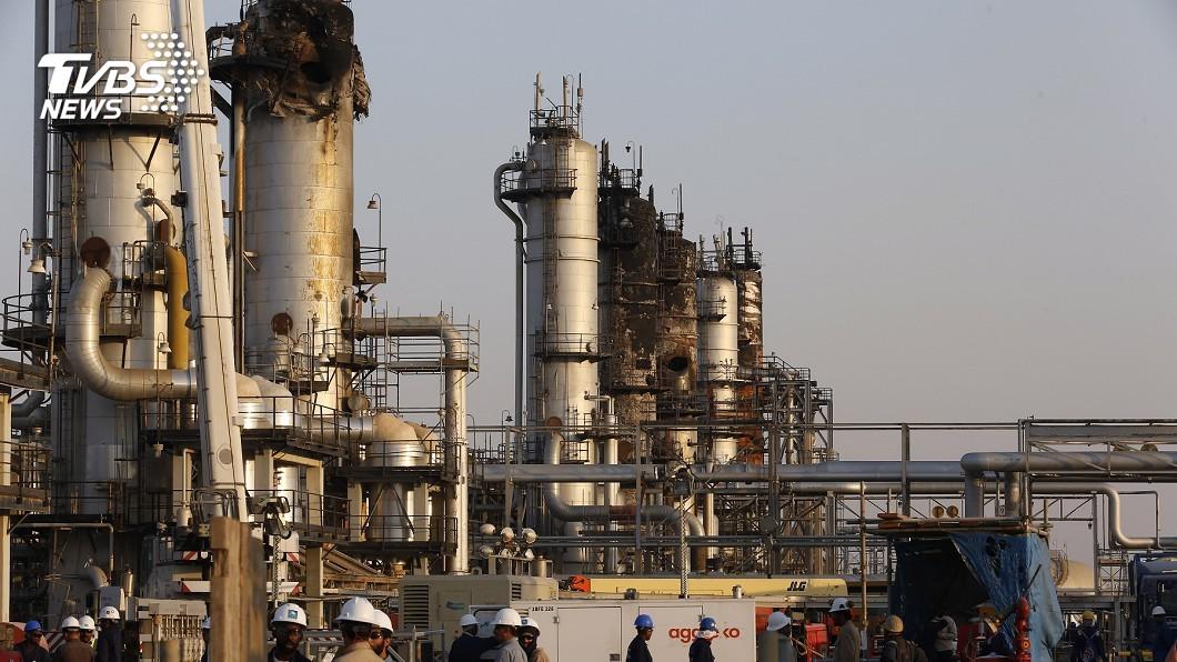 圖/達志影像美聯社 煉油廠遭襲後首度曝光! 沙國加緊趕工修復