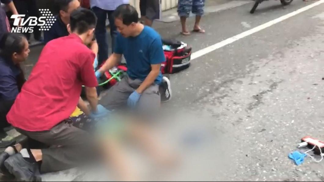 圖/TVBS資料畫面 男童穿馬路遭重機撞飛亡 父悲痛發文:別讓我受二次傷害
