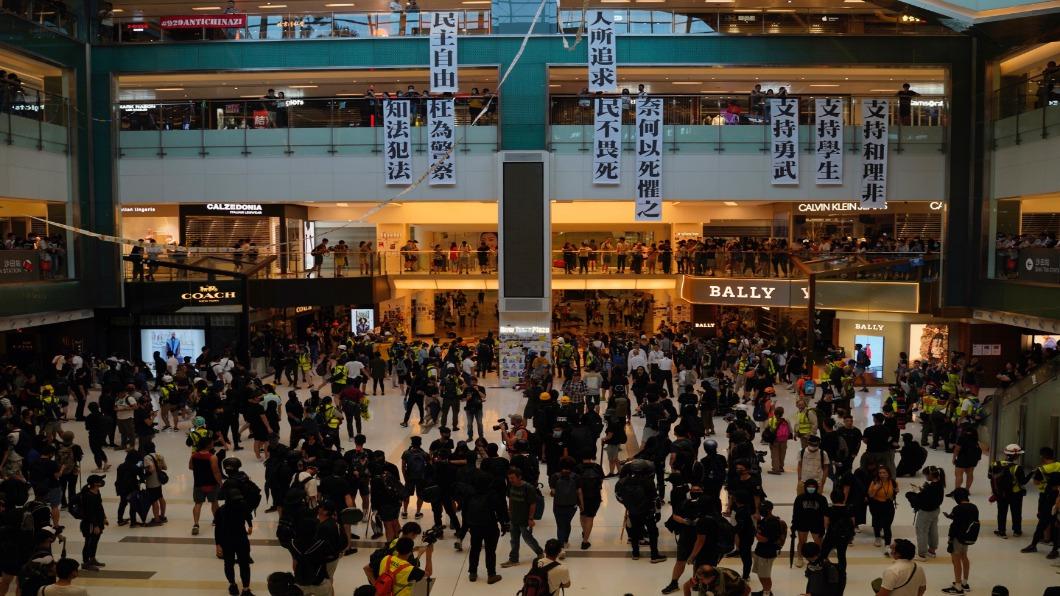 圖/達志影像美聯社 陸資港企上聯合國批反送中 美心門市遭抗議