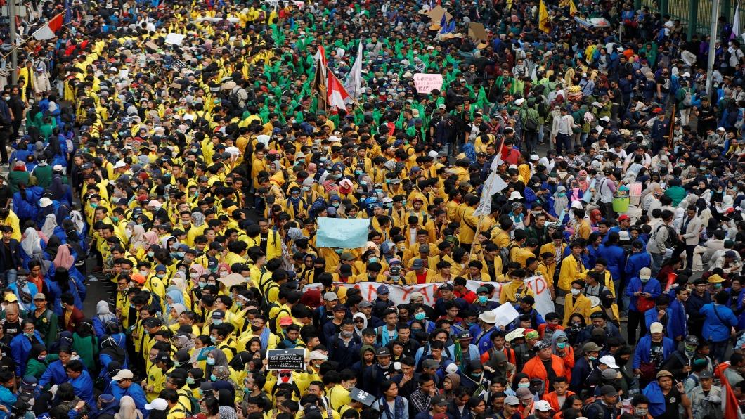 圖/達志影像路透 印尼擬修刑事法 激發印尼學運.警民衝突