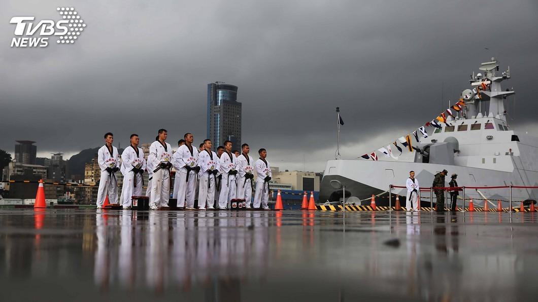 圖/中央社 祖父級海獅潛艦 28日基隆營區開放參觀