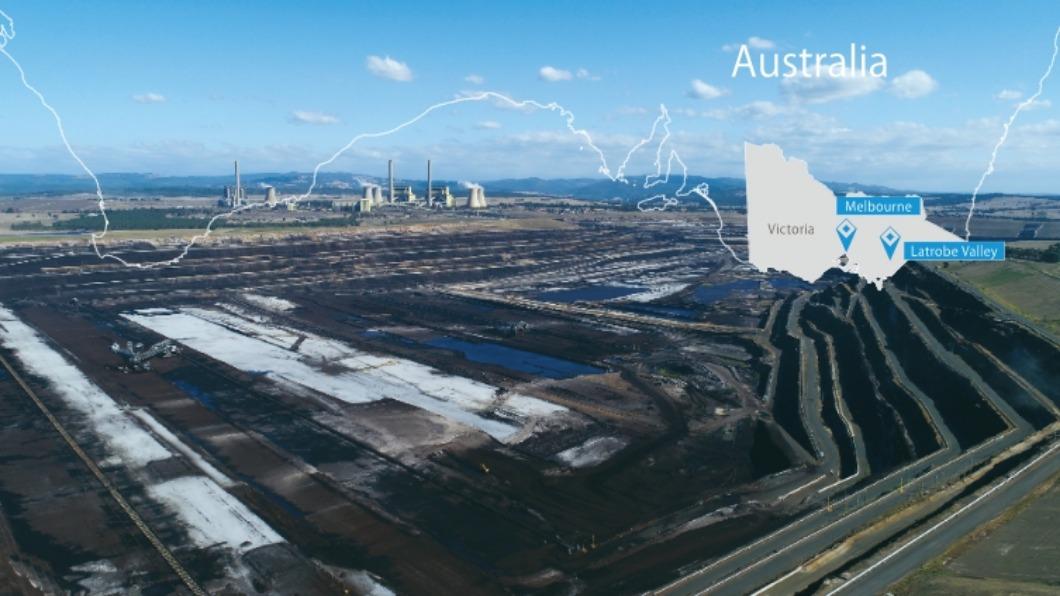圖/翻攝自 水素サプライチェーン - HySTRA 安倍:2030年氫能化 日澳合作.褐煤變氫氣