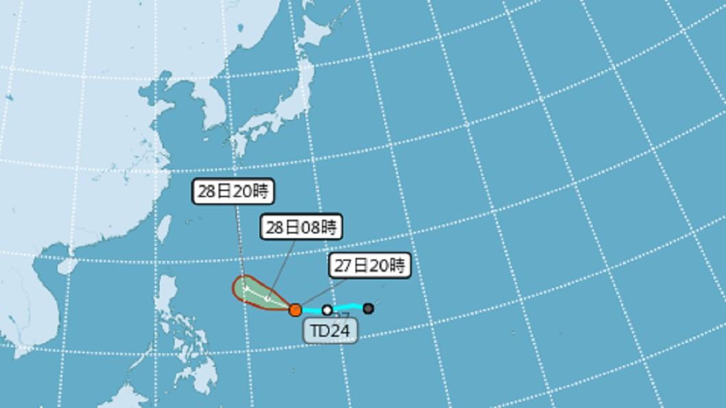 圖/翻攝自中央氣象局 北東部注意豪雨!颱風「米塔」最快24小時內生成