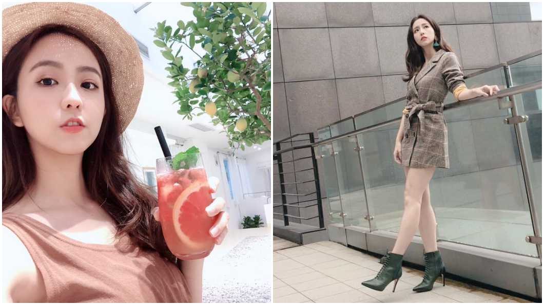 合成圖/翻攝周曉涵臉書 女星穿短裙坐摩天輪「透明地板」 網噴鼻血:太犯規!