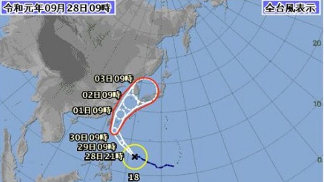 圖/翻攝自日本氣象廳官網  颱風「米塔」生成! 今明豪雨炸北台灣