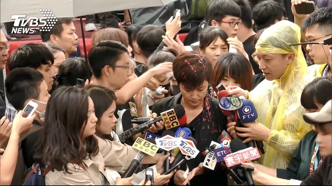 圖/TVBS 何韻詩遭潑紅漆案 警方擴大查緝再逮7共犯