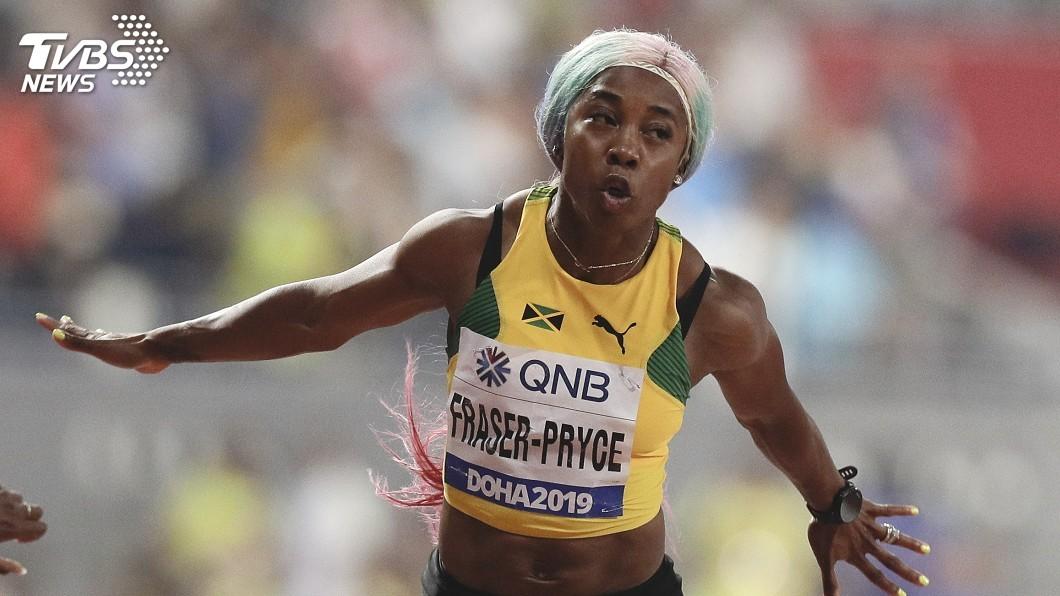 圖/達志影像美聯社 田徑世錦賽女子100公尺決賽 佛瑞塞普萊斯奪金