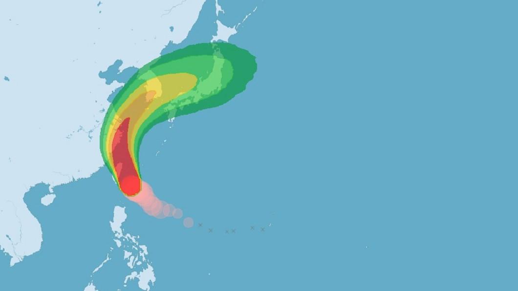圖/中央氣象局 米塔暴風圈逼近台灣 蔡總統:做好防颱避免外出