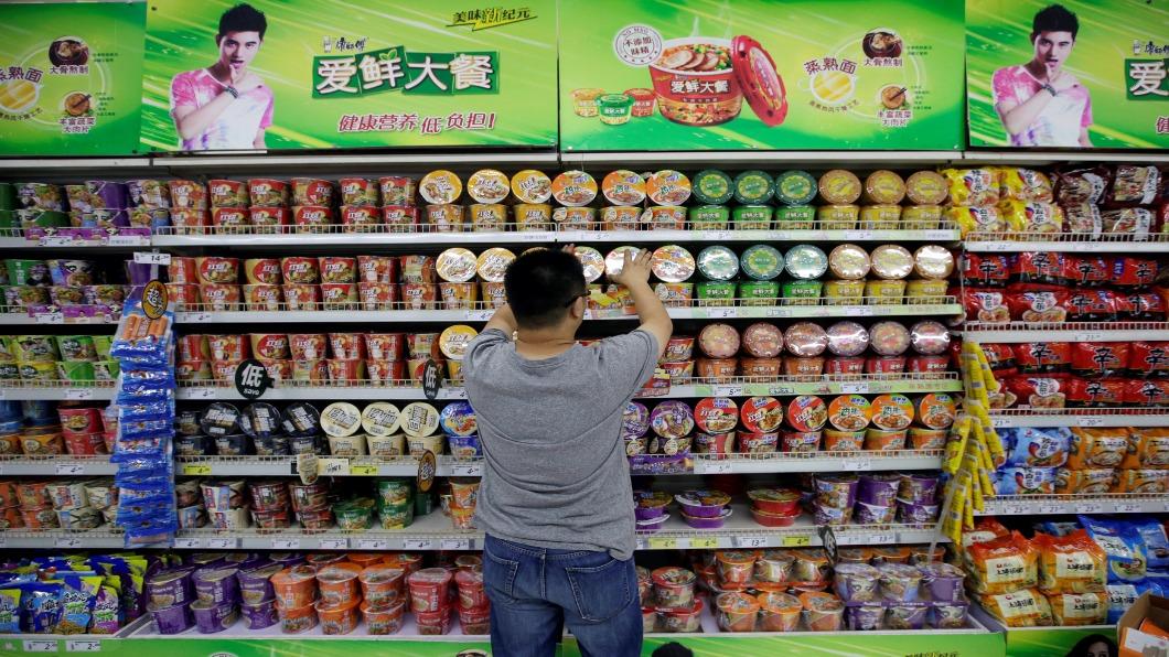 圖/達志影像路透 年賣402.5億包 大陸登泡麵銷量冠軍