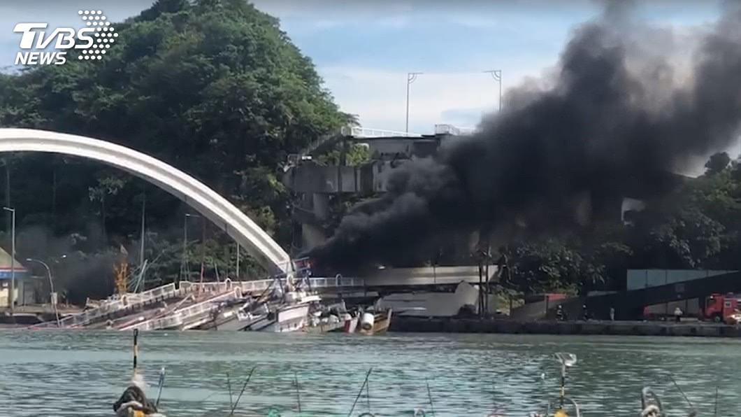 圖/TVBS 南方澳跨港大橋坍塌意外 國軍趕赴現場馳援