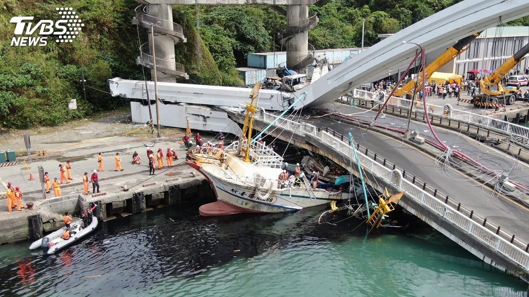 圖/中央社 南方澳跨港大橋坍塌移工死亡 可領勞保職災給付