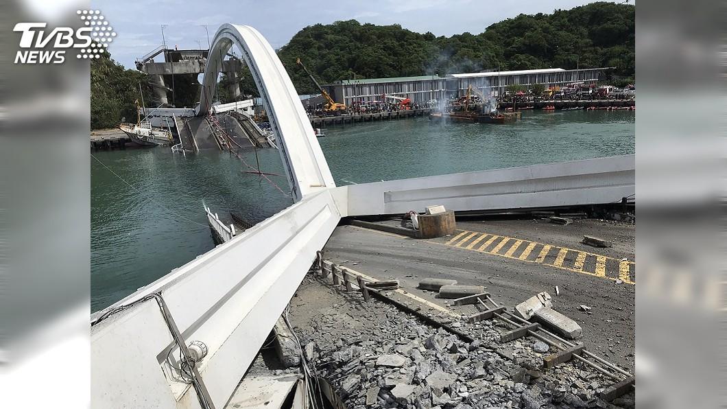 圖/中央社 南方澳跨港大橋21歲 前2年剛花1千萬改善