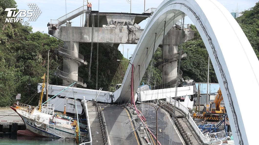 圖/中央社 南方澳是否因鏽蝕斷橋? 工程會:調查後才能確定