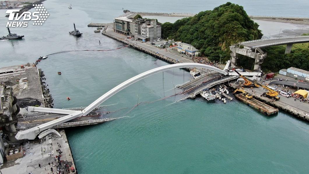 圖/中央社 南方澳大橋檢測報告公布 伸縮縫變形損壞沉陷