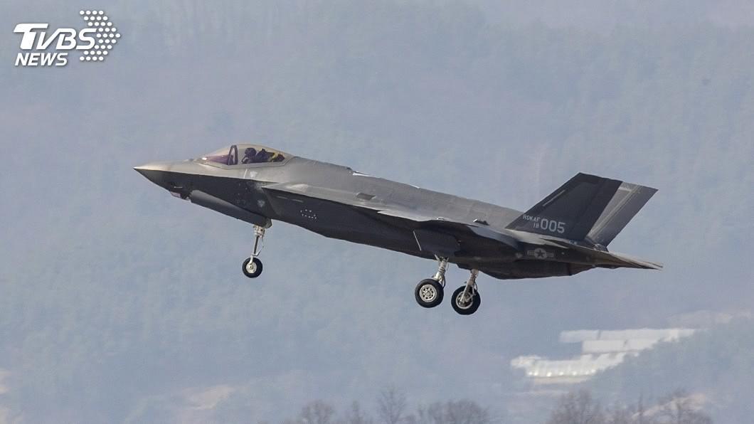 圖為南韓F-35A匿蹤戰機。圖/達志影像美聯社 北韓又射彈! 分析指回應南韓F-35A亮相