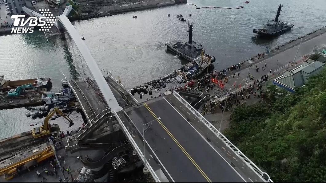 圖/TVBS 南方澳大橋斷 檢調今赴亞新調閱資料追查原因