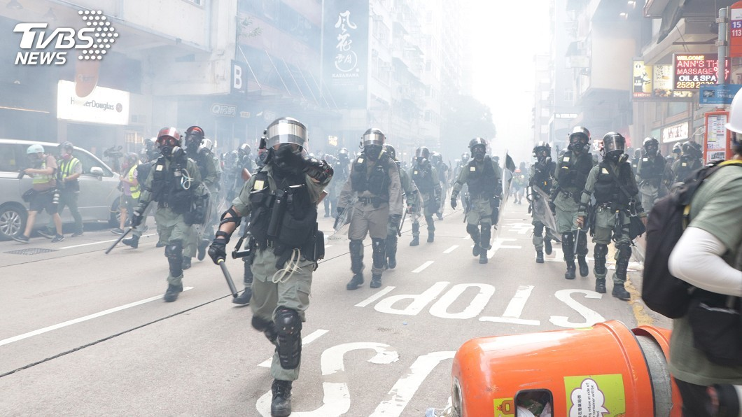 圖/中央社 反送中港警開槍傷人 韓國瑜盼香港官民好好對話