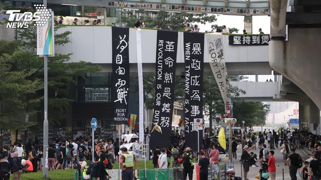 自由之家舉辦頒獎典禮,反送中香港民主運動為得獎者之一。(圖/中央社資料照) 反送中香港民主運動 獲自由之家年度自由獎項