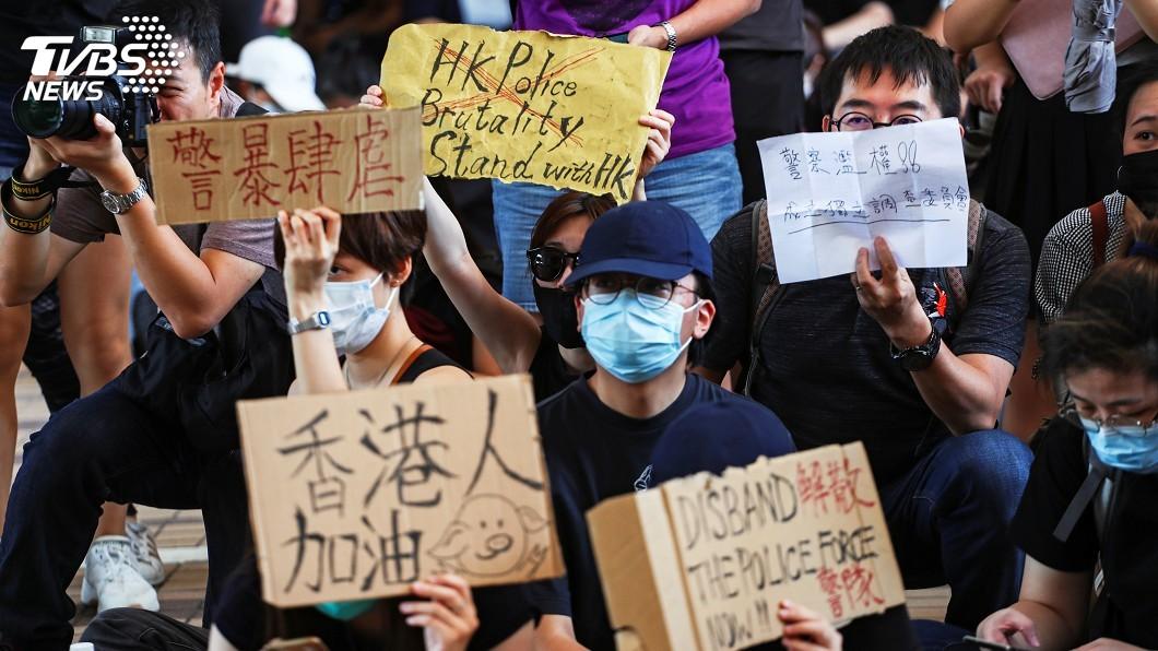 圖/達志影像路透社 香港中環反送中快閃遊行 大批人響應號召