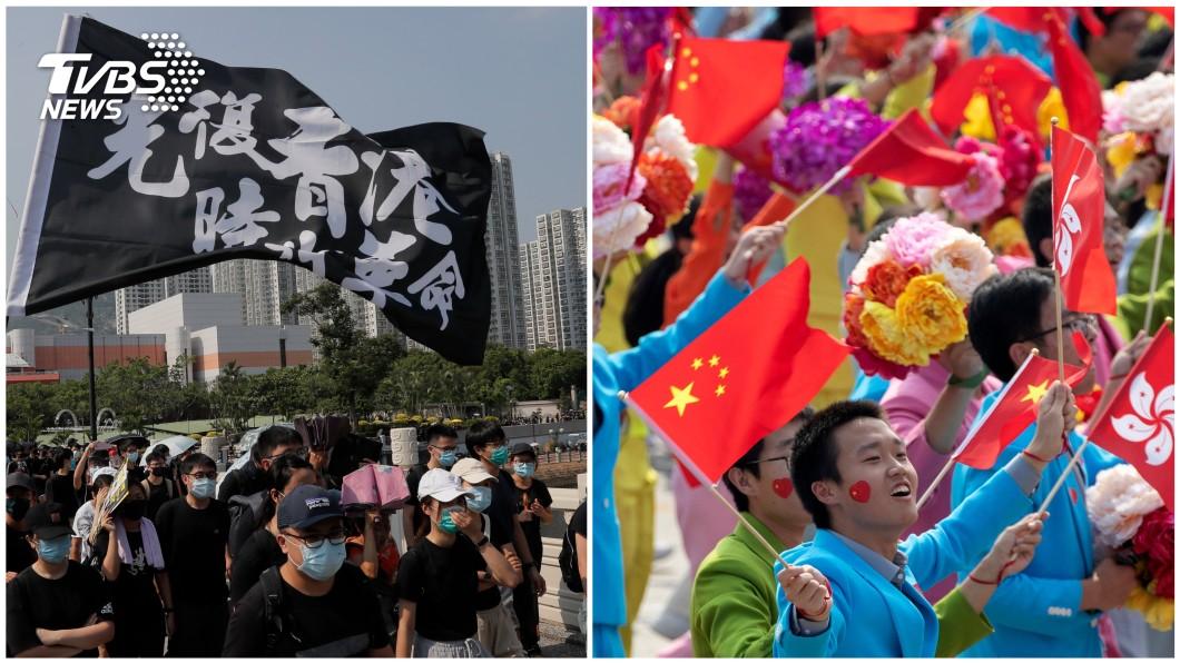 圖/達志影像美聯社 反送中抗爭變調 十一國慶香港警民衝突亂糟糟