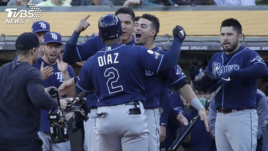 圖/達志影像美聯社 MLB光芒5比1擊敗運動家 晉美聯分區系列賽